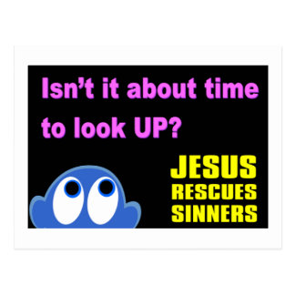 Jesus rescues sinners christian gift postcard