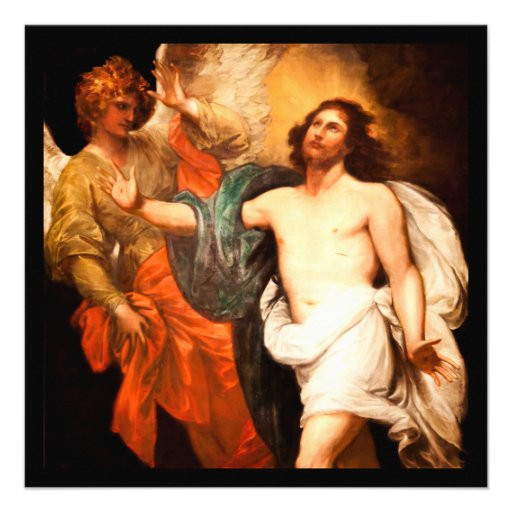 Jesus Resurrected with an Angel Invites