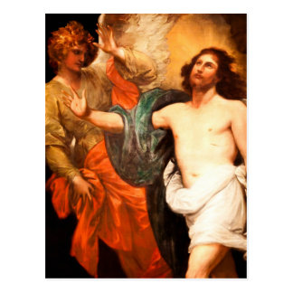 Jesus Resurrected with an Angel Post Card