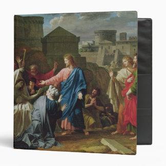 Jesus Resurrecting the Son of the Widow of Naim 3 Ring Binders