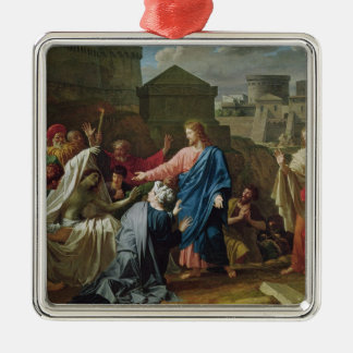 Jesus Resurrecting the Son of the Widow of Naim Christmas Ornaments