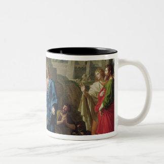 Jesus Resurrecting the Son of the Widow of Naim Two-Tone Coffee Mug