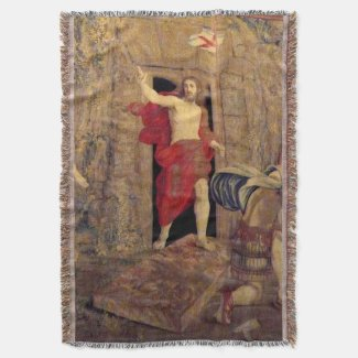 Jesus Resurrection Throw Blanket