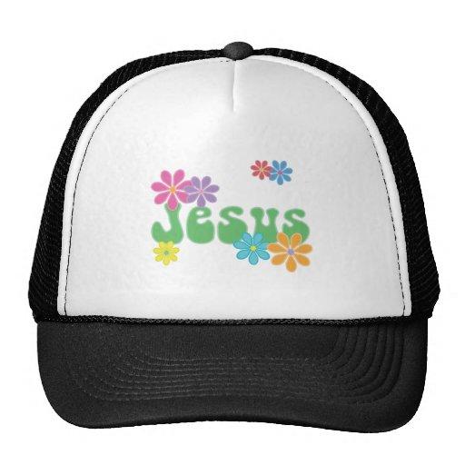 Jesús retro gorros