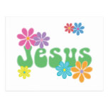 Jesús retro postal