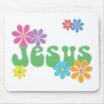 Jesús retro tapete de raton
