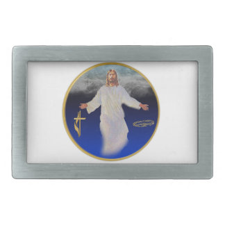 Jesus return belt buckle