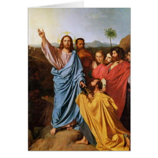 Jesus Returning the Keys to St. Peter, 1820 Card