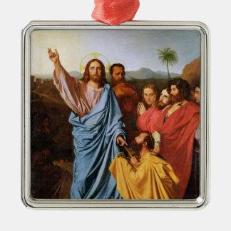 Jesus Returning the Keys to St. Peter, 1820 Metal Ornament