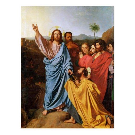 Jesus Returning the Keys to St. Peter, 1820 Post Card