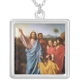 Jesus Returning the Keys to St. Peter, 1820 Square Pendant Necklace
