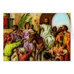 Jesus Rides the Donkey into Jerusalem Card