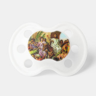 Jesus Rides the Donkey into Jerusalem Baby Pacifiers