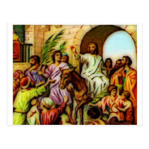 Jesus Rides the Donkey into Jerusalem Postcard