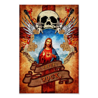 Jesus rock poster