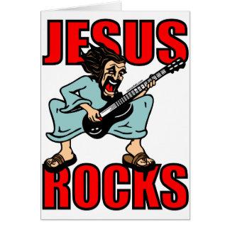 JESUS ROCKS CARD