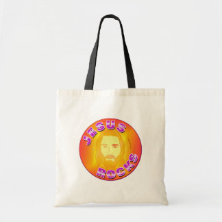 Jesus Rocks christian design Tote Bag