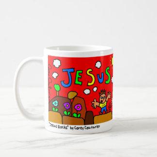 """Jesus Rocks""  Doodlemug by Corey Couturier Classic White Coffee Mug"