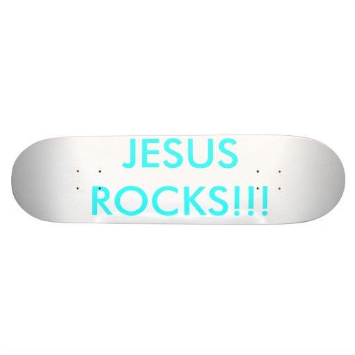 JESUS    ROCKS!!! SKATEBOARD DECK
