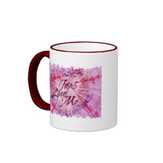 Jesús rosado me ama taza de café