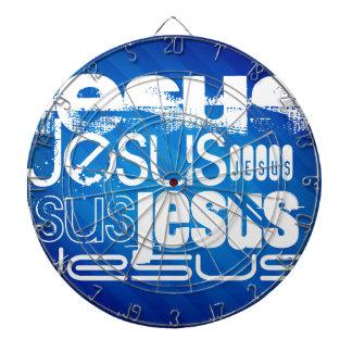 Jesus; Royal Blue Stripes Dart Board