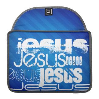 Jesus; Royal Blue Stripes MacBook Pro Sleeves