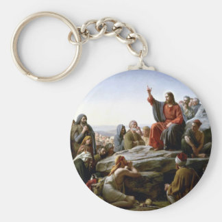Jesús 's Sermón-en--Soporte-por-Bloch Llavero Redondo Tipo Pin