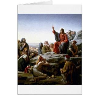 Jesús 's Sermón-en--Soporte-por-Bloch Tarjeta De Felicitación