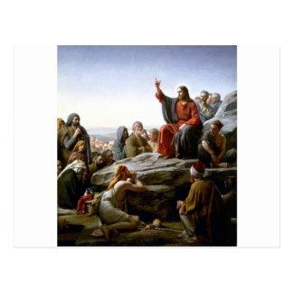 Jesús 's Sermón-en--Soporte-por-Bloch Tarjeta Postal