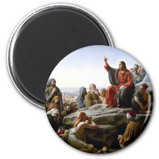 Jesus 's Sermon-on-The-Mount-by-Bloch 2 Inch Round Magnet