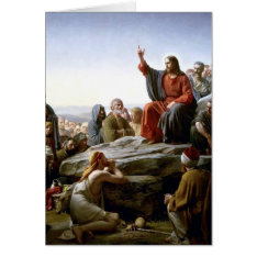 Jesus 's Sermon-on-the-mount-by-bloch Card at Zazzle