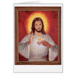 Jesus sacred heart card