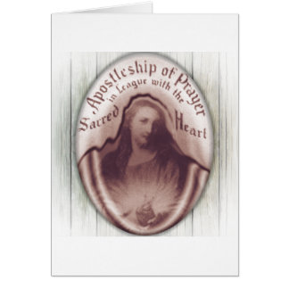 Jesus Sacred Heart Hanging Wall Plaque Icon Card