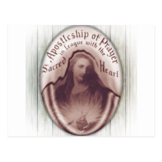 Jesus Sacred Heart Hanging Wall Plaque Icon Postcard