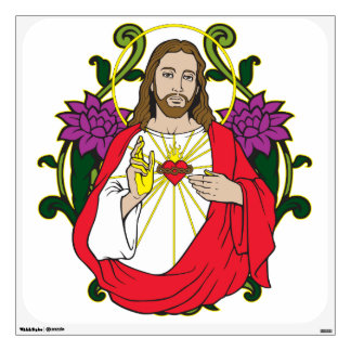 Jesus Sacred Heart Wall Sticker