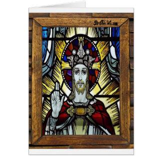 JESUS SACRED HEART  WOOD FRAME 02 CUSTOMIZABLE PRO CARD