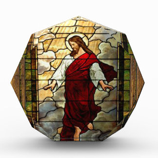 JESUS SACRED HEART  WOOD FRAME 03 CUSTOMIZABLE PRO AWARD