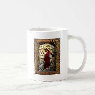 JESUS SACRED HEART  WOOD FRAME 03 CUSTOMIZABLE PRO COFFEE MUG