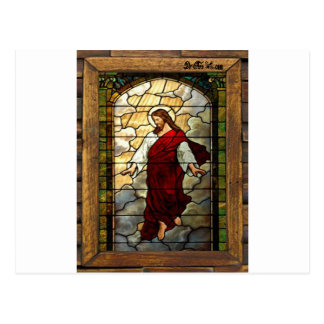 JESUS SACRED HEART  WOOD FRAME 03 CUSTOMIZABLE PRO POSTCARD