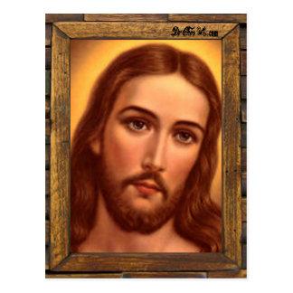 JESUS SACRED HEART  WOOD FRAME 08 CUSTOMIZABLE PRO POSTCARD