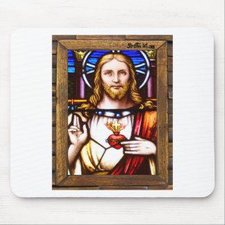 JESUS SACRED HEART  WOOD FRAME 11 CUSTOMIZABLE PRO MOUSE PAD