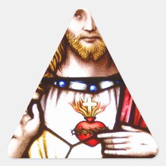 JESUS SACRED HEART  WOOD FRAME 11 CUSTOMIZABLE PRO TRIANGLE STICKER