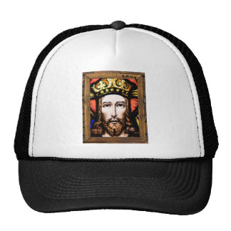 JESUS SACRED HEART  WOOD FRAME 13 CUSTOMIZABLE PRO MESH HATS