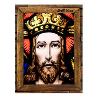 JESUS SACRED HEART  WOOD FRAME 13 CUSTOMIZABLE PRO POSTCARD