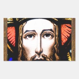 JESUS SACRED HEART  WOOD FRAME 13 CUSTOMIZABLE PRO RECTANGULAR STICKER