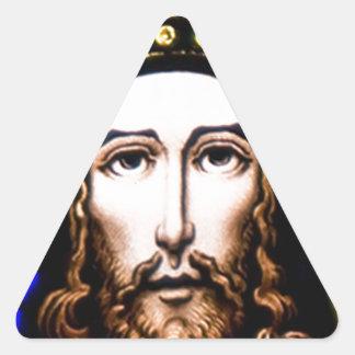 JESUS SACRED HEART  WOOD FRAME 13 CUSTOMIZABLE PRO TRIANGLE STICKER