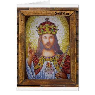 JESUS SACRED HEART  WOOD FRAME 16 CUSTOMIZABLE PRO CARD