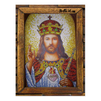 JESUS SACRED HEART  WOOD FRAME 16 CUSTOMIZABLE PRO POSTCARD