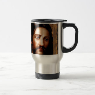 JESUS SACRED HEART  WOOD FRAME 31 CUSTOMIZABLE PRO COFFEE MUGS