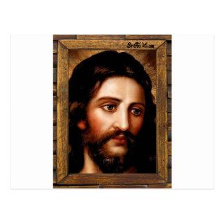 JESUS SACRED HEART  WOOD FRAME 31 CUSTOMIZABLE PRO POSTCARD